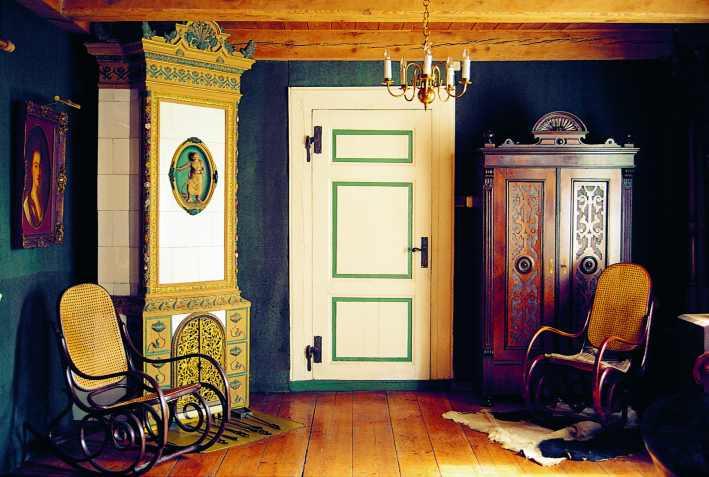 Wnętrze domu podcieniowego w Żuławkach