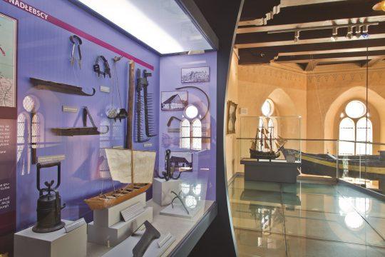 Muzeum Rybołówstwa w Helu, wnętrze, fot. Narodowe Muzeum Morskie