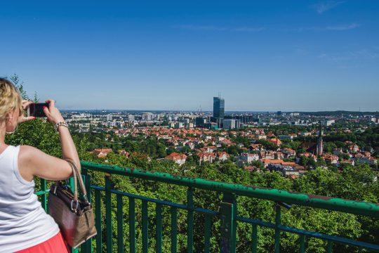 Widok z wieży na Wzgórzu Pachołek, fot. M. Ochocki
