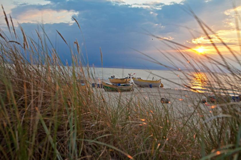 Zachód słońca nad Zatoką Pucką, Fot. Pomorskie.Travel