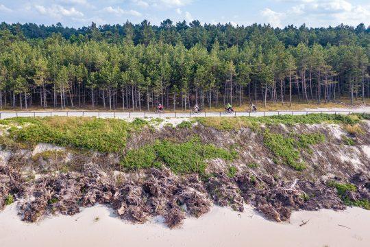 Widok od strony Bałtyku