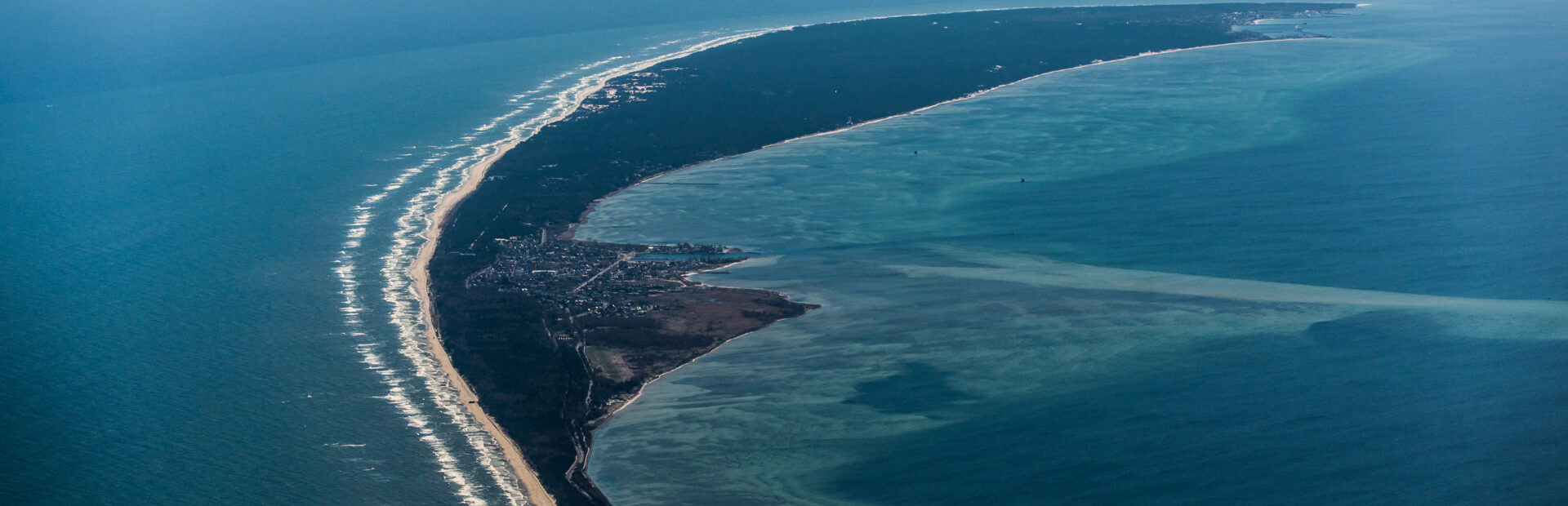 Hel Peninsula. Between the sea and the bay