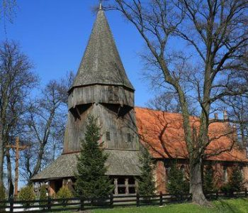 The Church of St. Jadwiga Queen of Poland in Kmiecin
