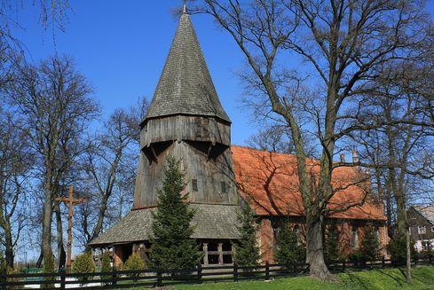 The Church of St. Jadwiga Queen of Poland in Kmiecin
