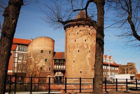 The Milk Can Gate (Brama Stągiewna) in Gdańsk