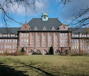 The edifice of the 1st General Secondary School in Lębork