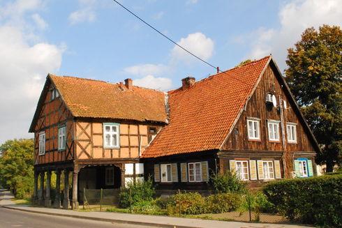 The arcade house in Żuławki