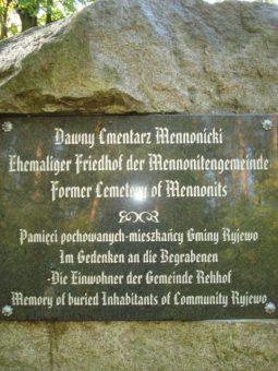 dawny cmentarz mennonicki fot archiwum lot zk liwa