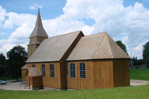 The wooden church in Sierakowice