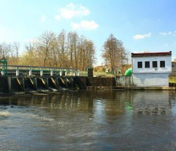 Water power Lebien on Łupawa river