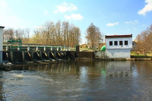 Elektrownia wodna Łebień na Łupawie