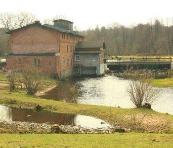 Water power Lupawa on Lupawa river
