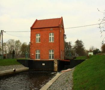 The Pruszcz hydro plant in Pruszcz Gdański
