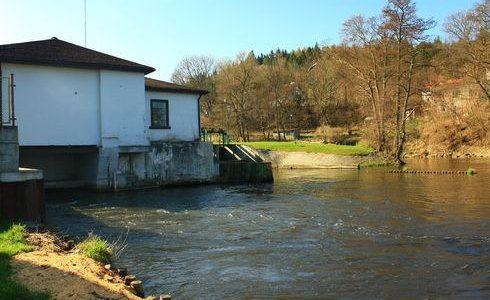 Water power Smoldzino on Lupawa river