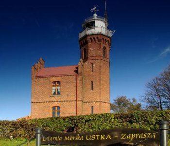 The Ustka lighthouse