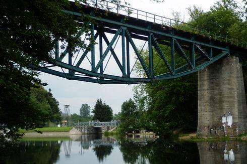 The truss bridge in Rutki