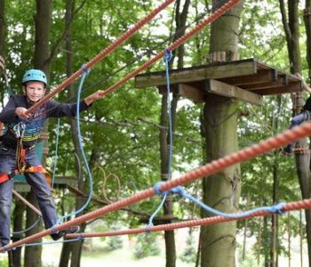 Ropes course in the 'u Stolëma' guesthouse in Ostrzyce