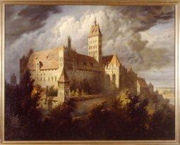 widok zamku od poludniowego wschodu pocz xx w