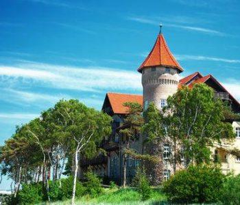 Zamek na plaży w Łebie