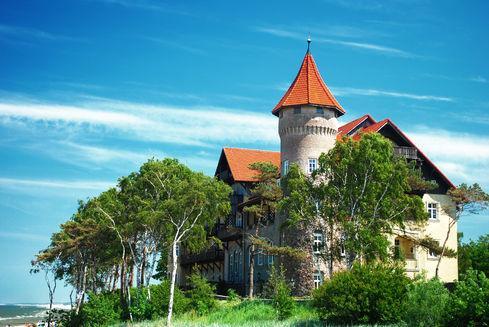 The Neptune Castle in Łeba